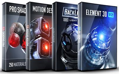 Video Copilot Element 3D v2.2.2 Build 2155 + Motion Design 2 + Backlight + Pro Shaders 2